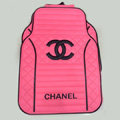 High Quality Chanel Universal Auto Carpet Car Floor Mats Rubber 5pcs Sets - Pink Black