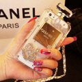 Princess Swarovski Chanel Perfume Bottle Love Rhinestone Cases for iPhone 5S - White
