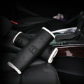 Unique Chanel Auto Fiber Cloth Seat Safety Belt Covers Car Decoration 2pcs - Black