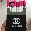Unique Chanel Cigarette Box Silicone Cases For iPhone 7 Plus - Rose