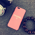 Unique Chanel Matte Hard Back Cases For iPhone 6 - Pink