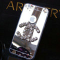 Unique Chanel Mirror Crystal Silicone Cases For iPhone 6 - Grey