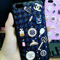 Unique Diamond Chanel Matte Hard Back Cases For iPhone 5 - Black