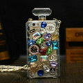 Unique Swarovski Chanel Perfume Bottle Floral Rhinestone Cases For iPhone 5S - Color