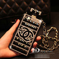 Unique Swarovski Chanel Perfume Bottle Good Rhinestone Cases For iPhone 5S - Black