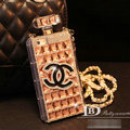 Unique Swarovski Chanel Perfume Bottle Good Rhinestone Cases For iPhone 5S - Champagne