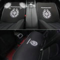 3pcs Best Plush Chrome Hearts Car Seat Cushions Covers Universal Winter Auto Mats Sets - Black