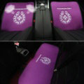 3pcs Best Plush Chrome Hearts Car Seat Cushions Covers Universal Winter Auto Mats Sets - Purple