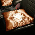3pcs Top Quality Satin Junction Produce Car Seat Covers JP Pads Sets Auto Seat Cushions - Gold