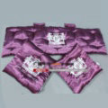 3pcs Top Quality Satin Junction Produce Car Seat Covers JP Pads Sets Auto Seat Cushions - Purple