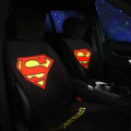 Calssic Supermam Silk Velvet Auto Cushion Universal Car Seat Covers 5pcs Set - Black