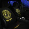 Calssic VERSACE Silk Velvet Auto Cushion Universal Car Seat Covers 5pcs Set - Yellow Black