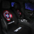 Captain America Wool Velvet Auto Cushion Universal Car Seat Covers 11pcs Set - Black
