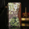 Gucci Flip Genuine Leather Cases Flower Pattern Book Holster Cover For iPhone 7 - Brown