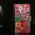 Gucci Flip Leather Cases Button Book Red Flower Pattern Holster Cover For iPhone 7 - Rose