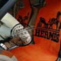 Hermes Paris Thickened Wool Car Seat Cushion Universal Automobile Pads 5pcs Set - Orange