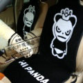 Hi Panda Thickened Wool Car Seat Cushion Universal Automobile Pads 5pcs Set - Black