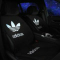 High Quality adidas Silk Velvet Auto Cushion Universal Car Seat Covers 5pcs Set - Black
