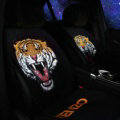 Hot sales Tiger KENZO Wool Velvet Auto Cushion Universal Car Seat Covers 5pcs Set - Black