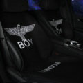 Luxury Eagle Boy London Wool Velvet Auto Cushion Universal Car Seat Covers 11pcs Set - Black