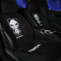 Luxury Hi Panda Wool Velvet Auto Cushion Universal Car Seat Covers 11pcs Set - Black
