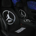 Luxury Jordan Wool Velvet Auto Cushion Man Universal Car Seat Covers 11pcs Set - Black