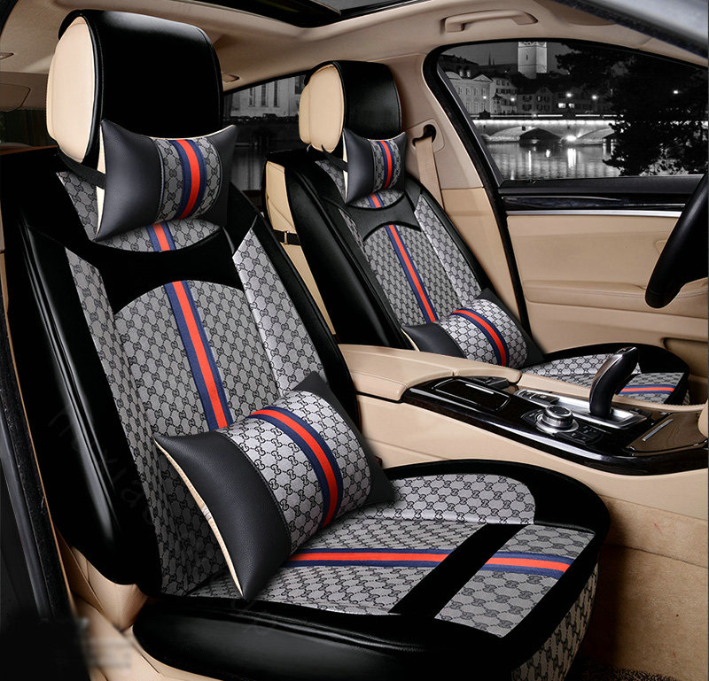 Superb Buy Wholesale Luxury Leather Gucci Print Car Seat Covers Andrewgaddart Wooden Chair Designs For Living Room Andrewgaddartcom