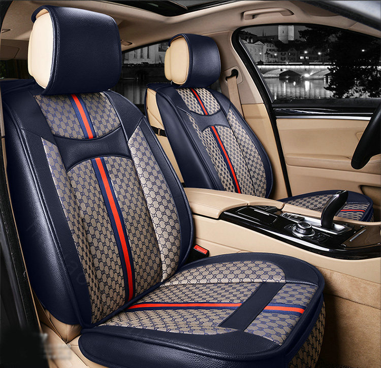 buy wholesale luxury leather gucci print car seat covers universal pads automobile seat cushions
