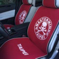 Luxury Mastermind Universal Car Seat Covers For Summer Flax Silk Auto Cushion 5pcs Sets - Red