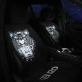 New Tiger KENZO Wool Velvet Auto Cushion Universal Car Seat Covers 5pcs Set - Black