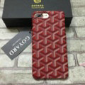 Personalized GOYARD Leather Pattern Cases Hard Back Covers for iPhone 7 - Red