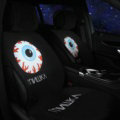Personalized MNWKA Silk Velvet Auto Cushion Universal Car Seat Covers 5pcs Set - Black