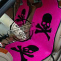 Skull Mastermind Thickened Wool Car Seat Cushion Free Tie Universal 5pcs Set - Rose
