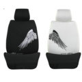 The Vindicator Wings Korean Silk Car Seat Covers Four Seasons General Seat Cushions 10pcs - Black White