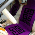 Top Grade Givenchy Thickened Wool Car Seat Cushion Free Tie Universal 5pcs Set - Purple