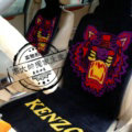Unique Tiger Kenzo Thickened Wool Car Seat Cushion Free Tie Universal 5pcs Set - Purple