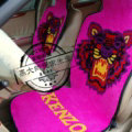 Unique Tiger Kenzo Thickened Wool Car Seat Cushion Free Tie Universal 5pcs Set - Rose