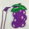 Candies Fruit Grape Handbag Silicone Cases for iPhone 7 Plus Fashion Chain Soft Shell Cover - Purple