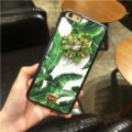 DG Crystals Leather Back Cover for iPhone 7 Plus Dolce Gabbana Flower Pattern Hard Case - Green