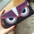 Fashion Fendi Monster Silicone Soft Cases for iPhone 7S TPU Shell Back Covers - Purple