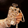 Funky Swarovski Chanel Perfume Bottle Good Rhinestone Covers For iPhone 7S - Champagne
