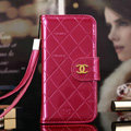 Best Mirror Chanel folder leather Case Book Flip Holster Cover for iPhone 8 - Rose