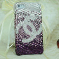 Chanel diamond Crystal Cases Luxury Bling Hard Covers for iPhone 8 - Purple