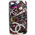 Chanel iPhone 8 case Swarovski crystal diamond cover - 01