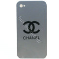 Chanel iPhone 8 case Ultra-thin scrub color cover - silver