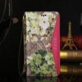 Gucci Flower Pattern Leather Cases Flip Genuine Holster Cover For iPhone 8 - Rose