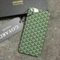 Personalized GOYARD Leather Pattern Cases Hard Back Covers for iPhone 8 - Green