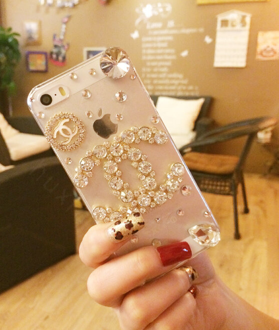 chanel iphone 8 plus case. name:bling unique chanel crystal silicone cases for iphone 8 plus - white iphone case o