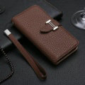 Calssic Hermes Pattern Flip Leather Cases Book Genuine Holster Cover For iPhone 8 Plus - Brown