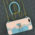 Candies Tassels Handbag Silicone Cases for iPhone 8 Plus Fashion Chain Soft Shell Cover - Blue